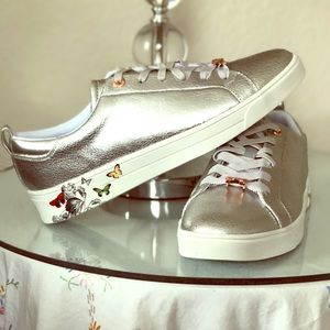 Ted Baker MISPIR Trainers, Silver Narnia